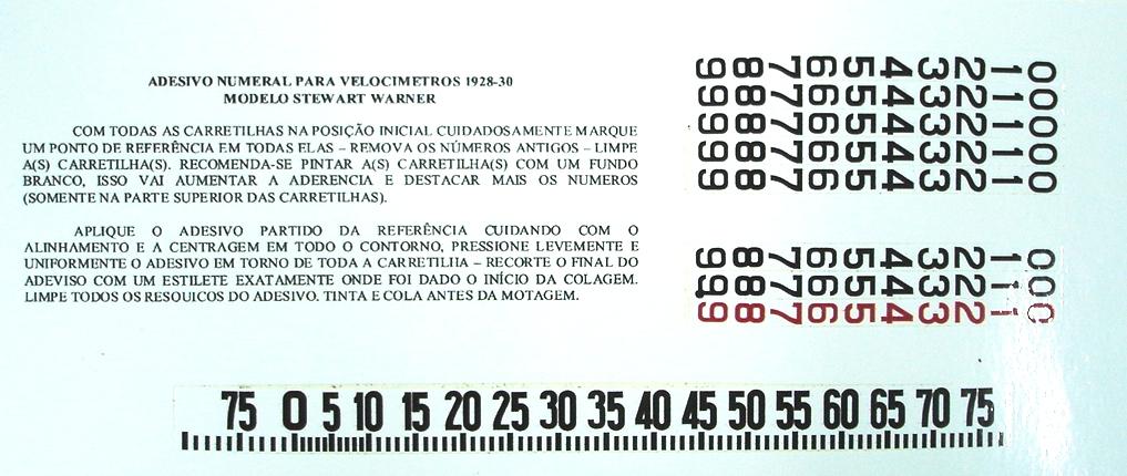 Adesivo Velocímetro ( Milhas ) - Ford Modelo a 28-29