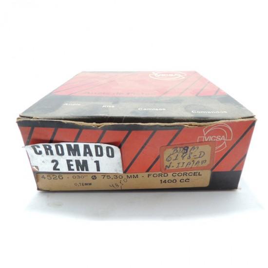Anéis Pistão Ford Corcel - 0,75