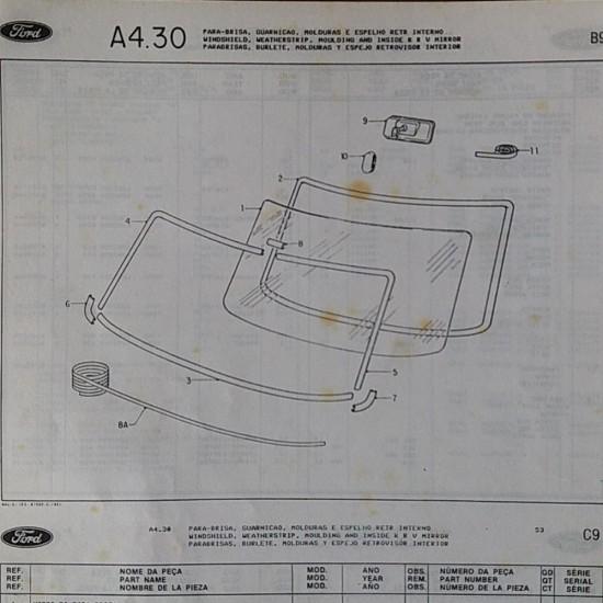 Friso Borracha Parabrisa Corcel II Até 85 Ld Original Ford