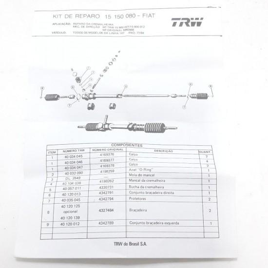 Kit Reparo Cremalheira Fiat 147 77/84 15150080 Trw