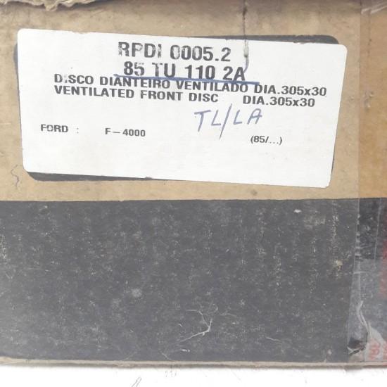 Disco Freio Ventilado Dianteiro F4000 85 em Diante Varga Rpdi 0005.2