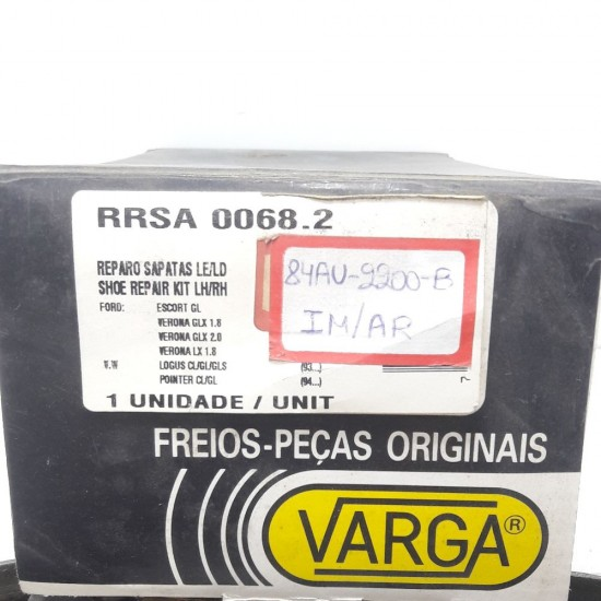 Jogo Sapata de Freio Ld Le Escort Gl Verona Glx 1.8 2.0 Lx 1.8 Logus Pointer Varga Rrsa 0068.2