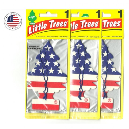 3 Little Trees Aromatizante Cheirinho Carro Vanilla Original