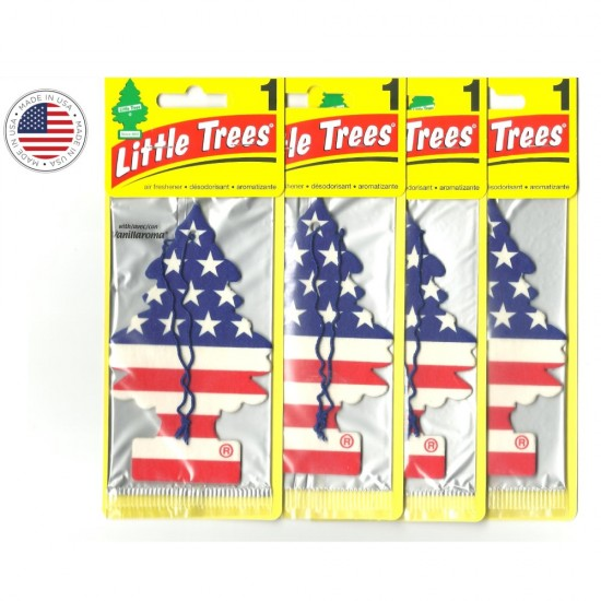 4 Little Trees Aromatizante Cheirinho Carro Vanilla Original