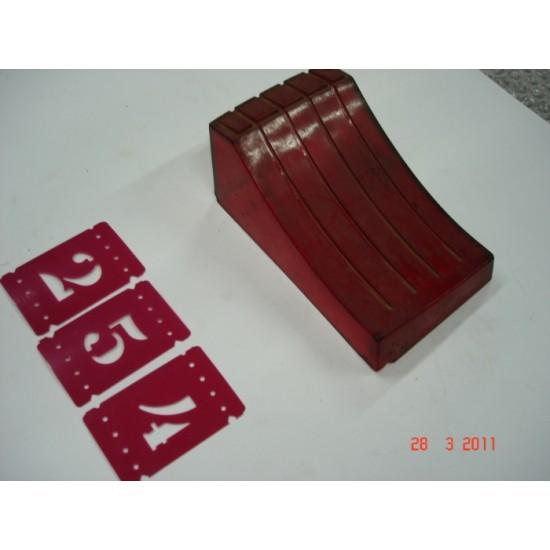 Lente Lanterna Traseira - LD - Opala - 69/74 - Vermelho