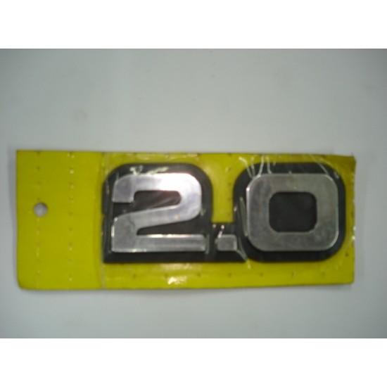 Emblema 2.0 Plástico