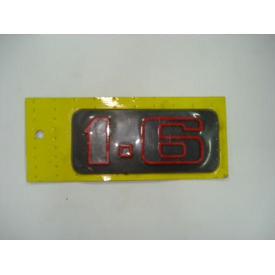 Emblema 1.6 (Vermelho) Plástico