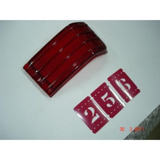 Lente Lanterna Traseira Ld Fiat 147 Vermelho Monte Carlo
